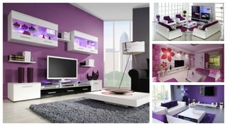 Modele livinguri mov decor modern
