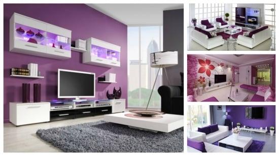 Modele livinguri mov decor modern