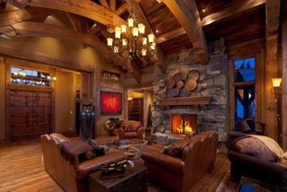 Living cu decor rustic