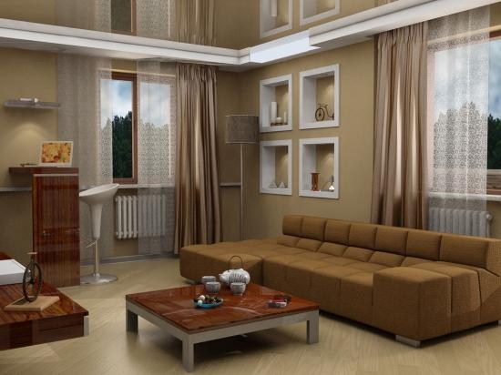 Design modern pentru un living de apartament