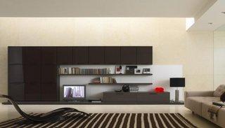 Stil minimalist pentru un living modern foarte simplu decorat