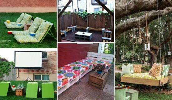 Locuri pentru relaxare in gradina - idei ingenioase facute acasa