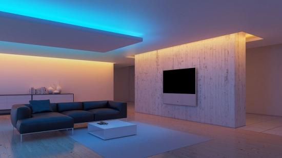 Combinatie de nuante de lumini in living