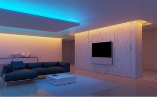 Exemplu de decor interior cu benzi led