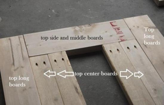 Blat masa lemn cu mijlocul scos
