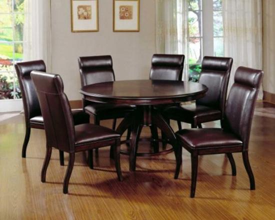 Set masa rotunda cu 6 scaune