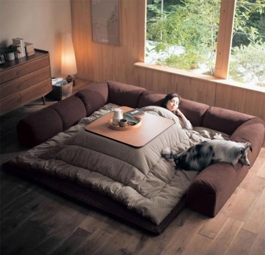 Kotatsu mobilier cu incalzire