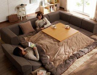 Mobilier Kotatsu cu incalzire