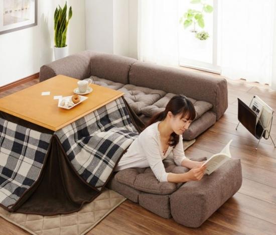 Mobilier multifunctional japonez Kotatsu