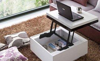 Masuta de cafea transformabila in masa pentru laptop