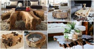 Modele masute rustice din lemn pentru cafea