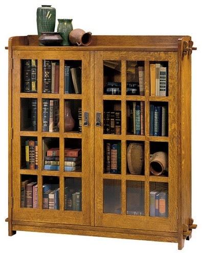Biblioteca joasa din lemn masiv de stejar