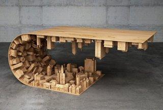 Design masa unica din lemn