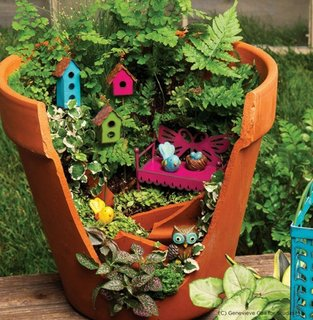 Aranjament pentru gradina cu plante in ghiveci