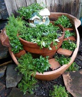 Mini gradina in ghiveci cu plante aromatice
