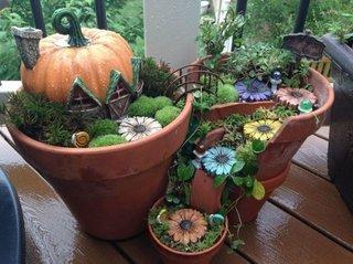 Mini gradina pentru Halloween