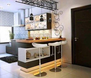 Bar modern acasa in bucatarie