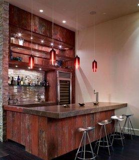 Bar vintage asezat in bucatarie