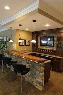 Polita pentru bar in bucatarie mica