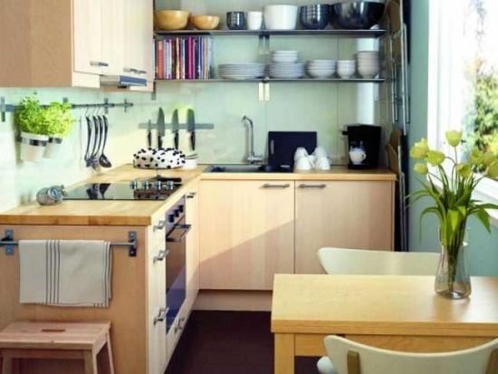 Mobilier bucatarie pe colt design modern
