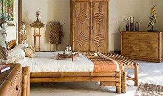 Mobila de dormitor confectionata din lemn de bambus