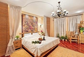 Mobila de dormitor din bambus