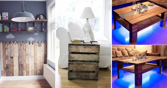 Mobila din paleti - idei inovative pentru folosirea paletilor la crearea pieselor de mobilier pentru interior