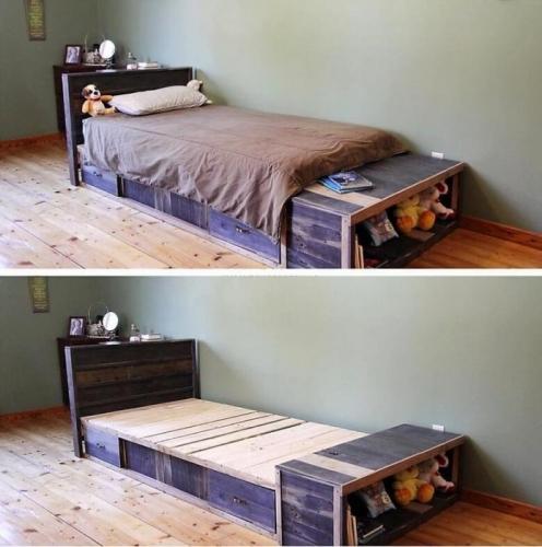 Pat din paleti din lemn