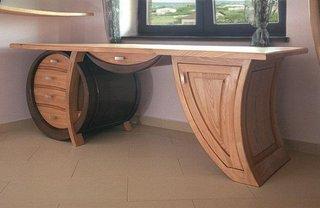 Birou rustic din lemn masiv