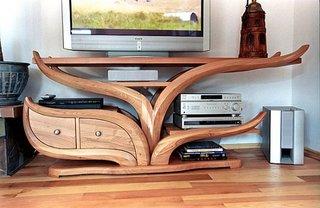 Comoda televizor rustica lemn masiv
