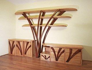 Mobila pentru sufragerie cu etajere