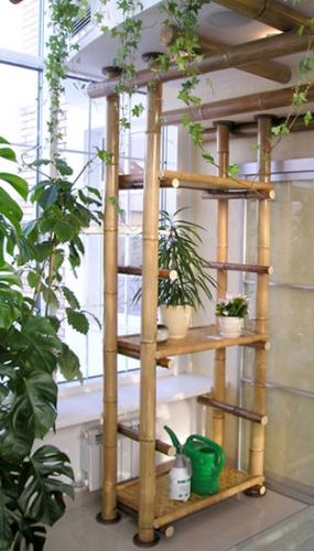 Etajere din bambus