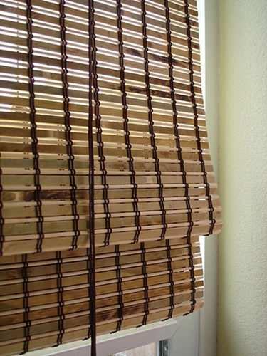 Jaluzea orizontala din bambus