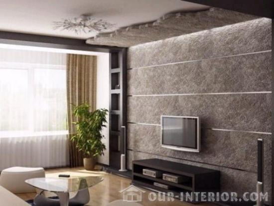 Decor living perete televizor