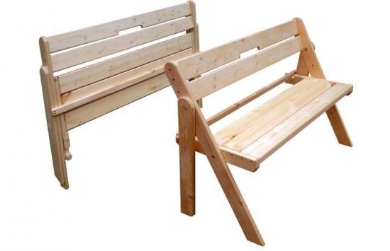 Banci pliabile din lemn