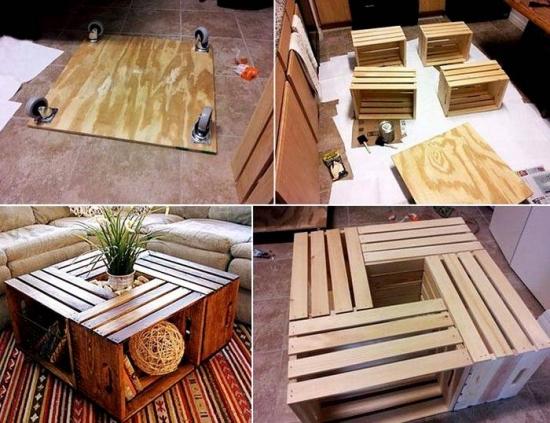 Construire masuta din lemn