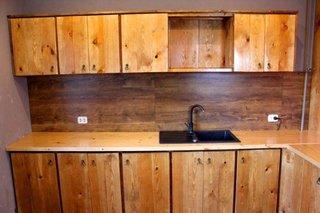 Mobilier din lemn pentru bucatarie