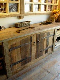 Dulap bucatarie din paleti din lemn