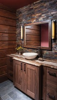 Mobilier baie din paleti din lemn
