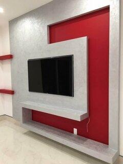 Amenajare cu rigips perete cu televizor