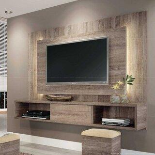 Amenajare loc TV cu placi din mdf stejar
