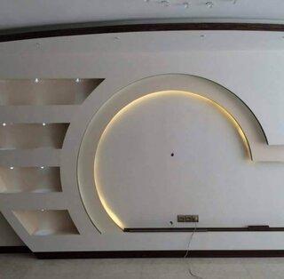 Comoda TV realizata din gips carton cu iluminare led