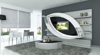Design elegant living perete cu televizor