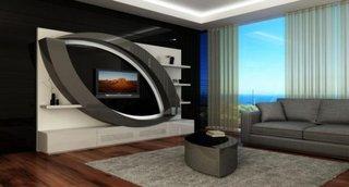 Design living perete televizor