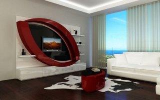 Design modern perete televizor