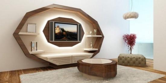 Mobilier living perete cu televizor