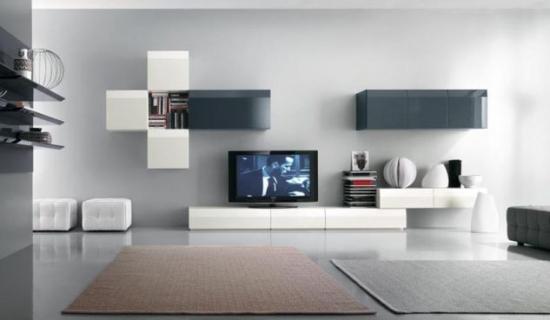 Mobilier modern living perete cu televizor