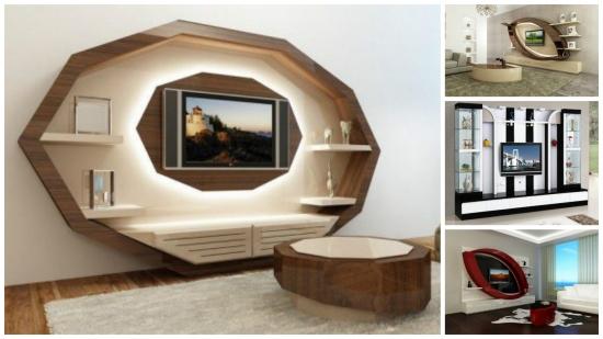 Mobilier elegant pentru peretele cu televizorul din living