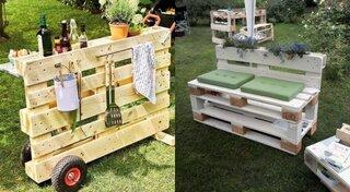Idei de mobilier de gradina din paleti