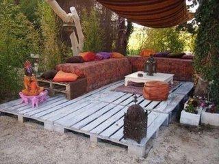 Pardoseala pentru terasa din paleti de lemn